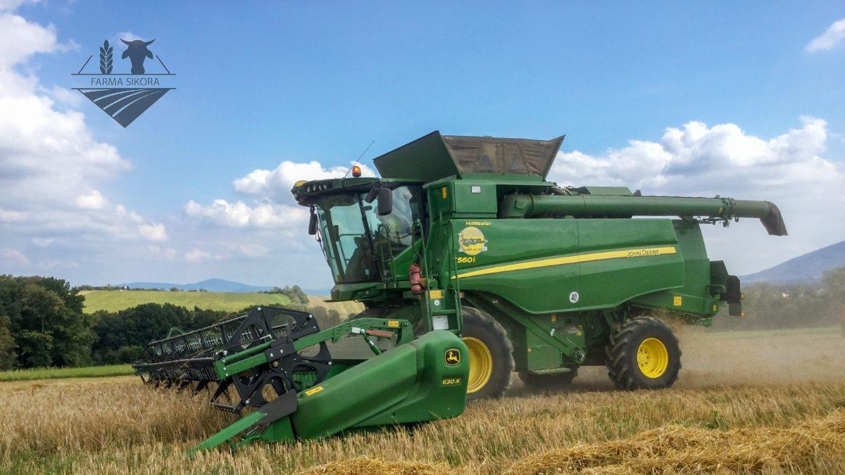 FARMA SIKORA, JOHN DEERE T560i, AGROSLUŽBY, SKLIZŇOVÉ SLUŽBY